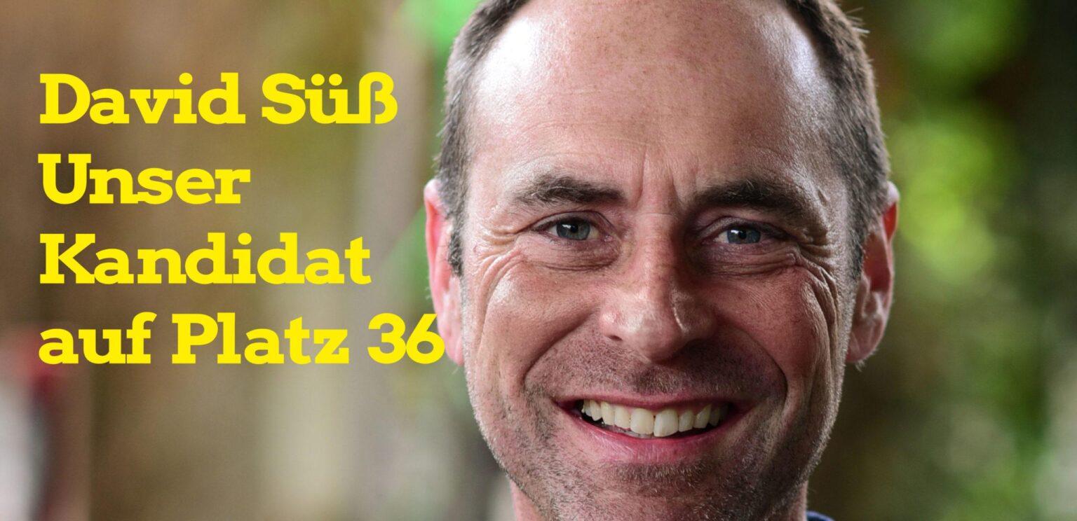 David Süß – Unser Kandidat für den Stadtrat