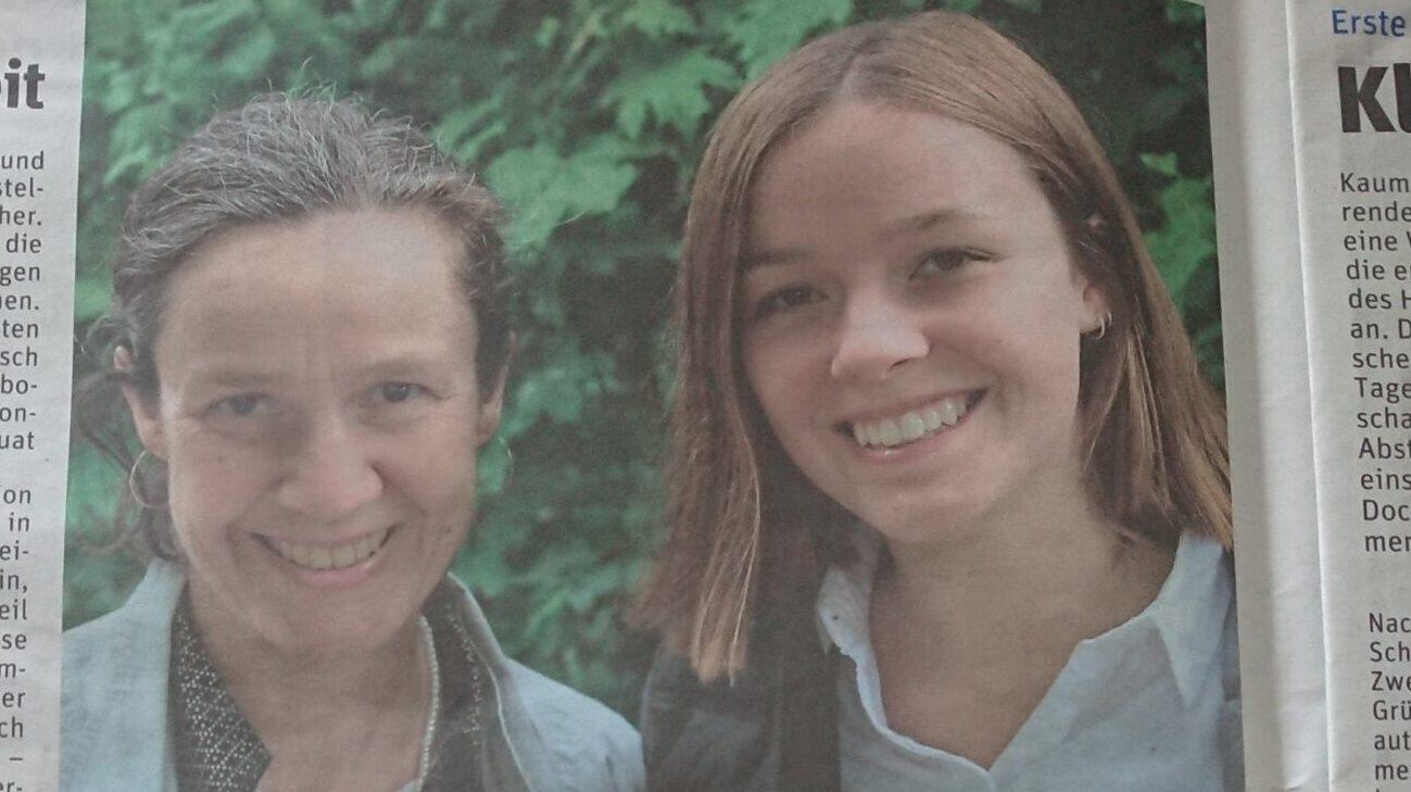 Mutter und Tochter im Portrait