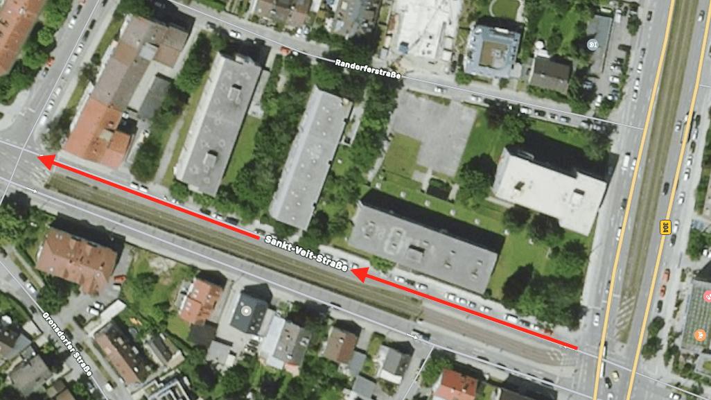 Endlich eine Lösung für den Radweg an der St.-Veit-Straße