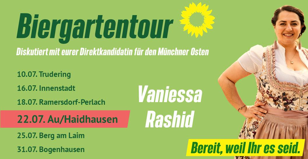 Im Biergarten mit Vaniessa Rashid – Au-Haidhausen