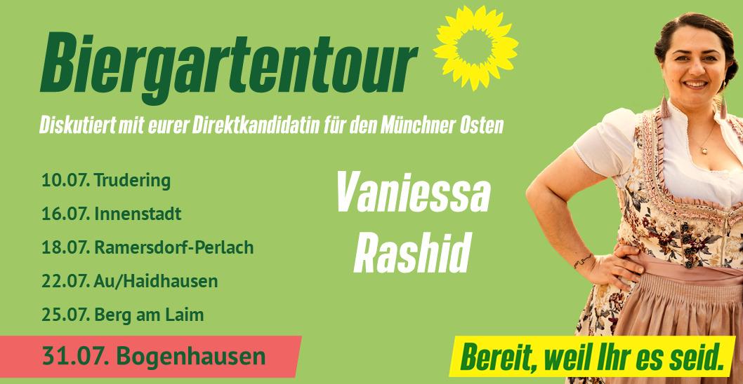Im Biergarten mit Vaniessa Rashid – Bogenhausen
